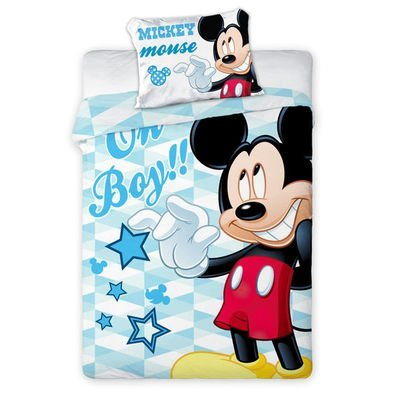 Mickey Mouse dekbedovertrek 100x135 - Oh boy