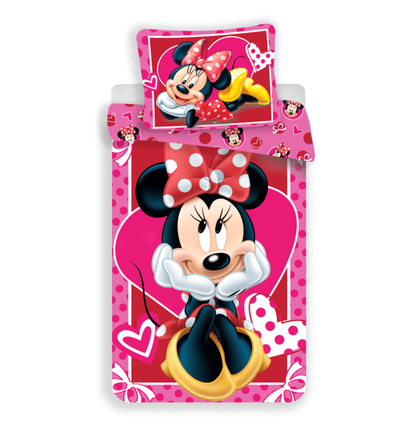 Minnie Mouse dekbedovertrek 140x200 - Hearts