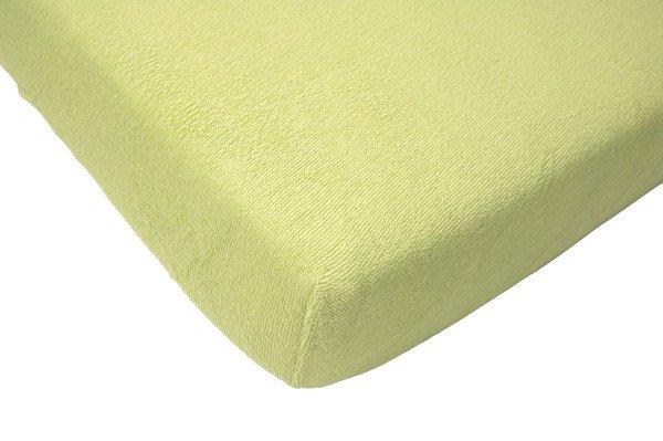 Badstof hoeslaken 60x120 - Soft Lime