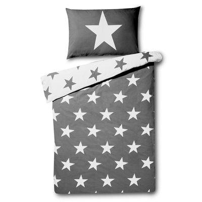 Stars dekbedovertrek 140x200 - Grey