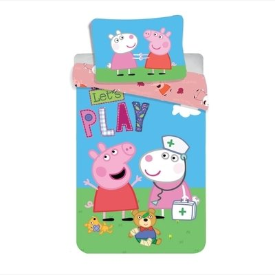 Peppa Pig dekbedovertrek 140x200 - Let's Play