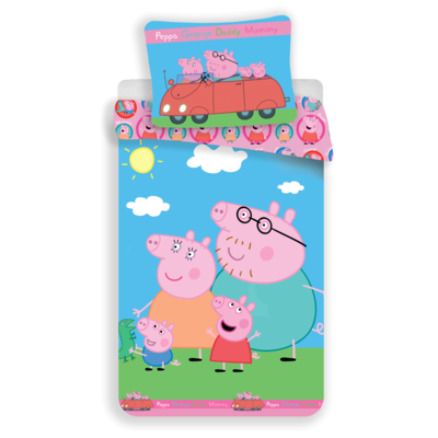 Peppa Pig dekbedovertrek 140x200 - Family