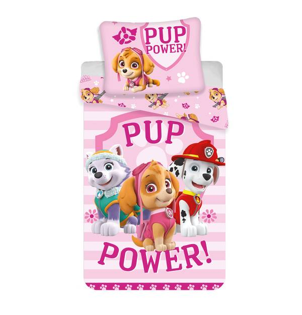 Paw Patrol dekbedovertrek 140x200 - Pup Power
