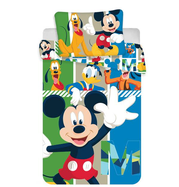 Mickey Mouse dekbedovertrek 100x135 - And friends