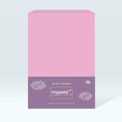 Nappiez jersey hoeslaken 60x120 - Roze