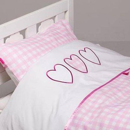Roze dekbedovertrek 100x135 - Alexi