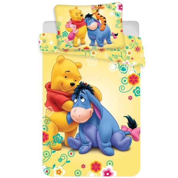 Winnie the Pooh dekbedovertrek 100x135 - Geel