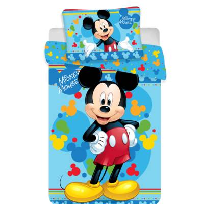 Mickey Mouse dekbedovertrek ledikant 100x135 - Blauw | Disney
