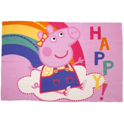 Peppa Pig fleece deken - Happy