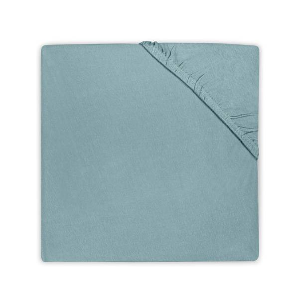 Katoenen hoeslaken 75x150 - Stone Green